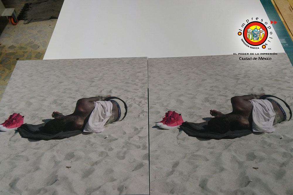 Series fotograficas en papel imitacion algodon