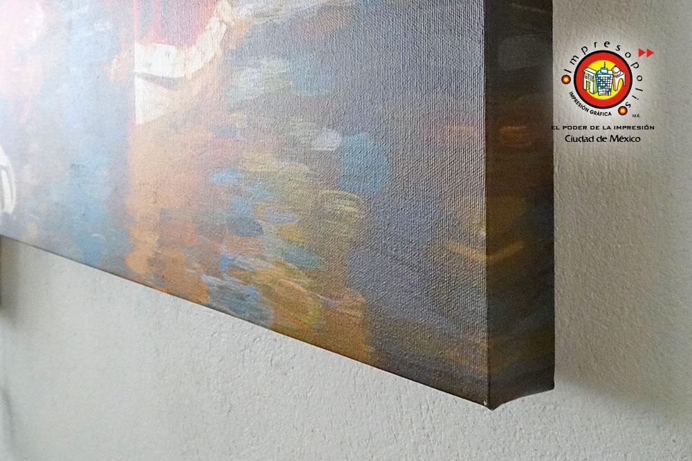 Tensado de canvas polialgodon en marco de madera
