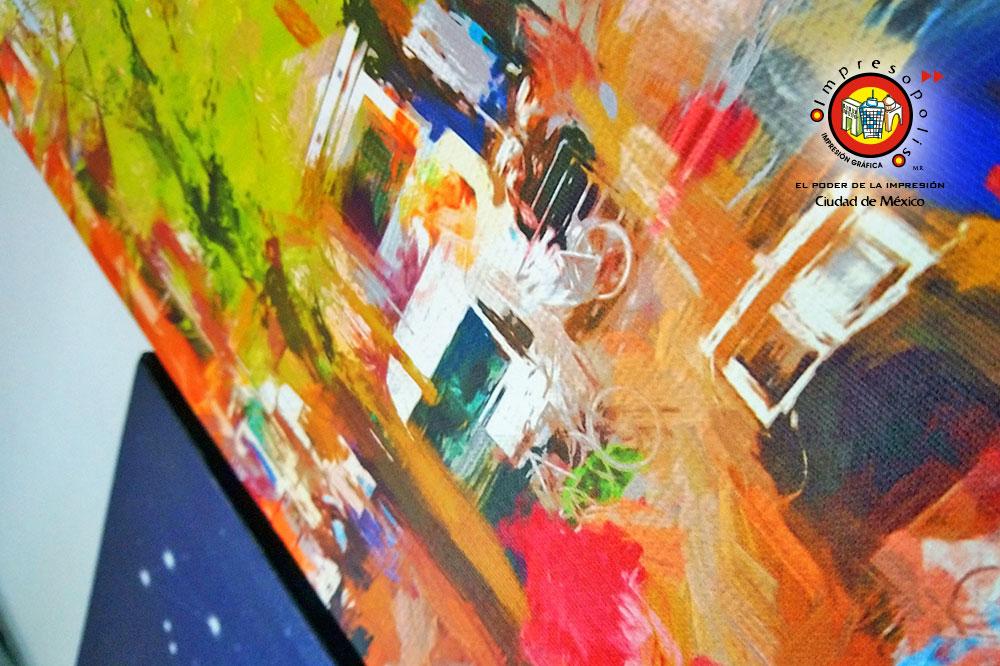 Maximo detalle en la impresion de arte & foto con la tela canvas keufel und esser